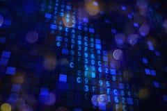 Oprogramowanie interneta ochrony kodu hex tło royalty ilustracja