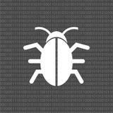 Oprogramowanie pluskwy ikona, program pluskwy ikona royalty ilustracja
