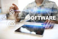 Oprogramowanie rozwój Dane Digital Programuje system technologii pojęcie obrazy royalty free