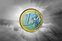 Opromieniony euro Fotografia Stock