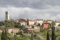Oprtali in Istria. Oprtalj - idyllic small town on a hill in central Istria stock photography