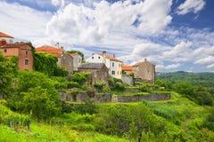 Oprtalj Partole-italian, Croatia. Stock Photo