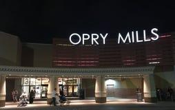 Opry Mills Mall på natten, Nashville, Tennessee Arkivbild