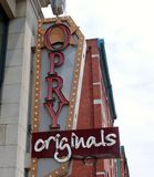 "Opry Originals Lifestyle Store, Downtown Nashville, Tennessee. Located in the heart of downtown Nashville's famous ""Lower Broadway"" area known around the Royalty Free Stock Photos"
