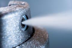 Opryskiwanie dezodorant, makro- fotografia obraz stock
