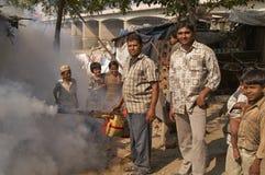 Opryskiwanie flit w India Obrazy Stock