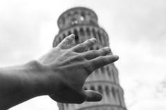 oprzeć wieżę w pizie Fotografia Royalty Free