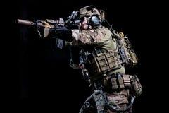 Солдат ops спецификаций стоковое фото rf