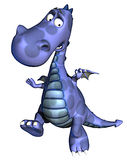 Ops blue dragon baby dino Royalty Free Stock Image
