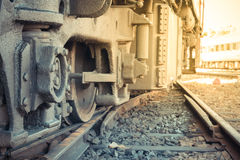 Opschorting van Thaise trein stock afbeeldingen