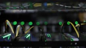 Opslag met mijnbouw van de de grafiekkaart van GPU de video stock video