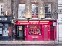 Opslag van de strengen de Akoestische Gitaar in de Straat van Denemarken, Londen, Engeland, het UK Royalty-vrije Stock Foto's