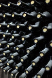 Opslag van oude flessen wijn Royalty-vrije Stock Foto's