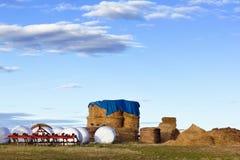 Opslag van veevoeder voor vee Stock Afbeeldingen