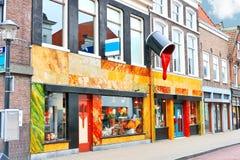Opslag van verf en vernisproducten in Gorinchem, Stock Foto