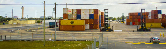 Opslagcontainers Royalty-vrije Stock Foto