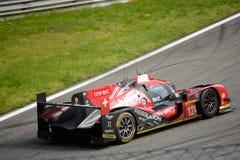 Opstand die r-Één test van AERs rennen LMP1 in Monza stock afbeelding