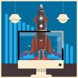 Opstarten Concepten bedrijfs vectorillustratie Royalty-vrije Stock Foto