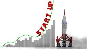 Opstarten De grafiek van de groei vector illustratie