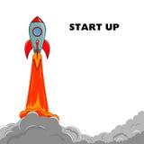 Opstarten Rocket Ship Stock Afbeelding