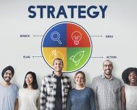 Opstarten van bedrijvenondernemer Strategy Target Concept stock foto's