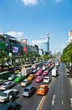 Opstopping in Bangkok Royalty-vrije Stock Foto's