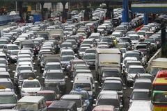 Opstopping in Djakarta Indonesië Royalty-vrije Stock Foto's