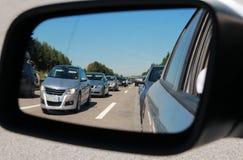 Opstopping in een autospiegel Stock Afbeelding