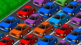 Opstopping op de weg Stock Fotografie