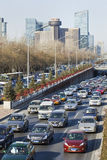 Opstopping op derde Ring Road, Peking, China Royalty-vrije Stock Foto