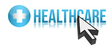Optaining healthcare concept illustration design. Over white Royalty Free Stock Photos