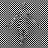 Optar Art Illustration com mulher à moda Imagens de Stock Royalty Free