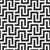 SQUARE LABYRINTH TEXTURE. MODERN STRIPED SEAMLESS VECTOR PATTERN. OPTIC ART BLACK AND WHITE BACKGROUND. STRIPED LINES. SEAMLESS VECTOR PATTERN. LABYRINTH royalty free illustration