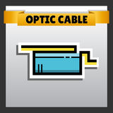 Optic cable design Royalty Free Stock Photos