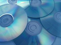Optic discs. Cd-s and dvd-s Royalty Free Stock Photo