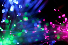Optic Fiber. Abstract background made of optic fiber color lamp Stock Images