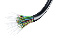 Optic fiber cable Stock Photos