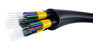 Optic fiber cable stock illustration