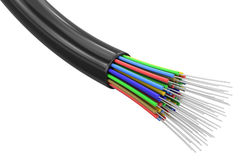 Optic fiber cable (clipping path included) Stock Photo