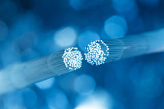 Optic fiber cable connecting Royalty Free Stock Photo