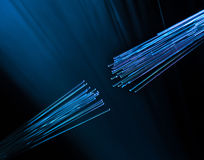 Optic fiber cable connecting Royalty Free Stock Image