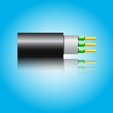 Optic fiber cable. Vector illustration Royalty Free Stock Photo