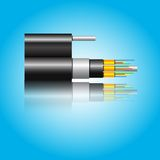 Optic fiber cable. Vector illustration Stock Image