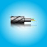 Optic fiber cable. Vector illustration Royalty Free Stock Image