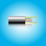 Optic fiber cable. Vector illustration Stock Images