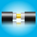 Optic fiber cable. Vector illustration Stock Photos