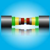 Optic fiber cable. Vector illustration Stock Photo