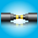 Optic fiber cable. Vector illustration Royalty Free Stock Images