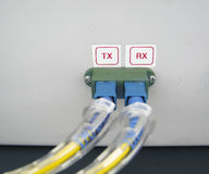 Optic fiber communications equipment Royalty Free Stock Images