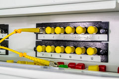Optic fiber. High speed optic fiber network data center Stock Photography